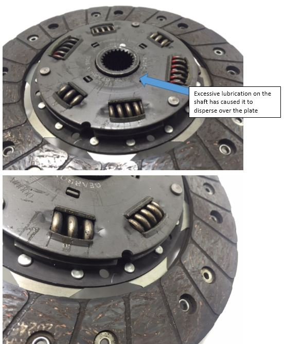 Grease on Friction Surfaces - Australian Clutch Services - Clutch
